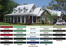 Metal roof colors streamline roofing and construction for What color roof should i get for my house